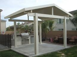 how to build a freestanding patio roof home design ideas