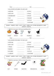 halloween word scramble worksheet free esl printable worksheets