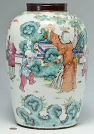 lot 222 large chinese famille rose ginger jar