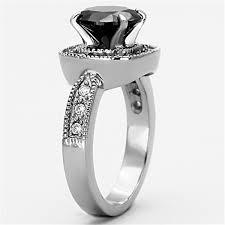 amazon com bamos jewelry womens amazon com 3 ct round cut black cubic zirconia stainless steel