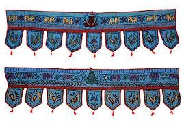 New Decorative Vintage Handmade India Valance Door Wall Hanging - Indian wall hanging designs