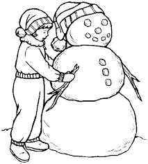 snowman coloring book twelve christmas