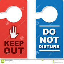 door signs keep out stock photo image 31312830