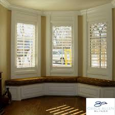 blinds on bay window decor window ideas