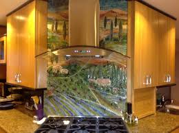 kitchen backsplash murals glass tuscan mural for kitchen designer glass mosaics