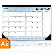 desk pad calendar 2018 a2 desk pad calendar monthly 2018 amazon co uk office products
