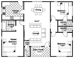 bungalow floor plan floor plan 3 bedroom bungalow house home intercine