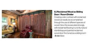 Reclaimed Wood Room Divider 10 Amazing Uses For Reclaimed Wood