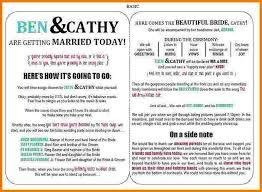 Wedding Bulletins Examples Printable Program Templates 29 Printable Program Templates