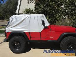 big red jeep jeep cab cover