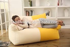 Bean Bag Armchair Classic Couple Size Coffee Bean Bag Armchair Indoor Sofa Recliner