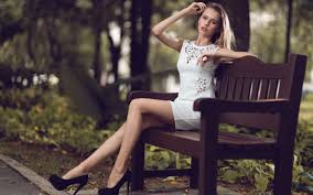 women model long hair blonde legs sitting women