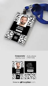 id card graphic design freepiker office id card