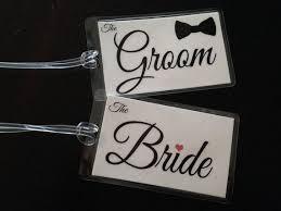 and groom luggage tags groom bag tags honeymoon bag tags newlywed luggage
