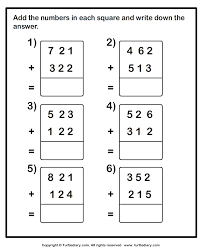 add two three digit numbers worksheet turtle diary