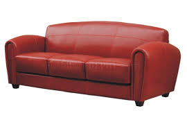 Red Leather Chair Full Leather Sofa U0026 2 Chairs Set