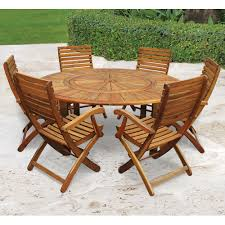 Patio Table Chairs by The Lazy Susan Outdoor Table Set Hammacher Schlemmer