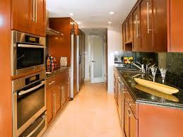 Small Galley Kitchen Layout Kitchen Inspiring Galley Cottage Kitchen Design With Cabinet