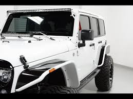 white and black jeep wrangler 2015 jeep wrangler unlimited sport for sale in tempe az stock