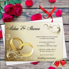 Invitation Card Printers 10 Personalised Wedding Invitations Day Or Evening N8