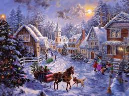 sleigh ride at dusk reminds me fo sleigh rides when i was