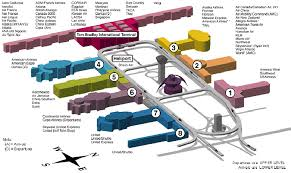 lax gate map lax airport map airlines per terminal los angeles