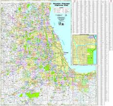 Chicago Area Code Map by Chicago Highway Map Map Of Chicago Highways United States Of
