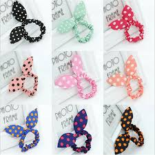 baby hair ties 16pcs lot mix styles rabbit ear women hair bands dot striped