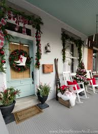 christmas porch decorations greet them at the door with amazing curb appeal this