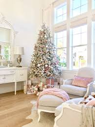 christmas livingroom my favorite flocked christmas tree kristywicks com