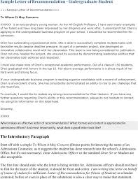 download sample letter of recommendation for undergraduate student