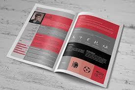 Indesign Resumes Creative Resume Booklet Resume Templates Creative Market
