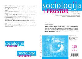 sociologija i prostor sociology and space vol 51 no 1 195 by