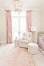 Pink And Gold Curtains Inside A Perfectly Pink And Gold Nursery White Rocking