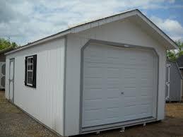 12x24 peak one car garage pine creek structures