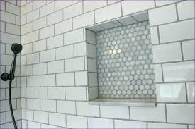 bathroom niche ideas tile niche bathroom with bathtub and gray subway tile shower tile
