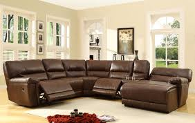 Sectional Leather Sofas With Chaise Homelegance Blythe Sectional Sofa Set Brown Bonded Leather
