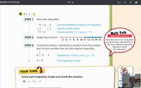 lesson 7 1 writing and solving one step inequalities youtube