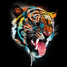 ferocious tiger custom t shirt design by dzeri29 source fancy