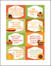 thanksgiving conversation starters free printables thanksgiving