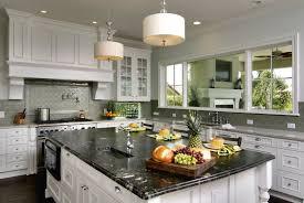 granite countertop antique white glazed kitchen cabinets