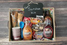 family gift basket ideas diy family sundae kit idea