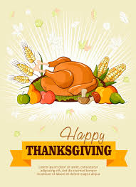 thanksgiving day greeting card vector poster stock vector