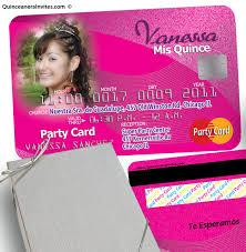 invitaciones para quinceanera invitaciones de quinceanera tarjeta de credito con caja plateada kit
