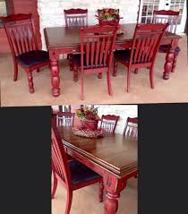 doubletake decor new red table u0026 chairs chalk paint furniture