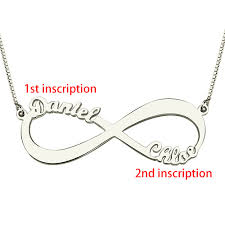 name engraved necklace infinity symbol necklace name