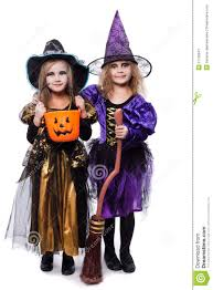 halloween background portrait witch children with trick or treat halloween fairy tale studio