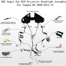 aliexpress com buy kt headlight for yamaha yzf r6 2008 2016 led