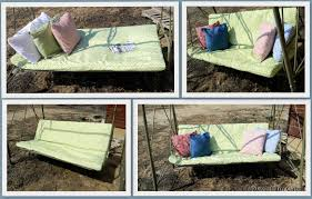 Recover Patio Cushions 7 48 Porch Swing Makeover Creative Cain Cabin