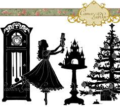 Nutcracker Ballet Christmas Decorations by Silhouette The Nutcracker Clipart Christmas Clip By Cameogarden